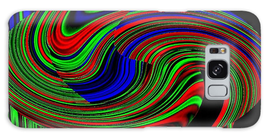 Abstract Galaxy S8 Case featuring the digital art Pizzazz 18 by Will Borden