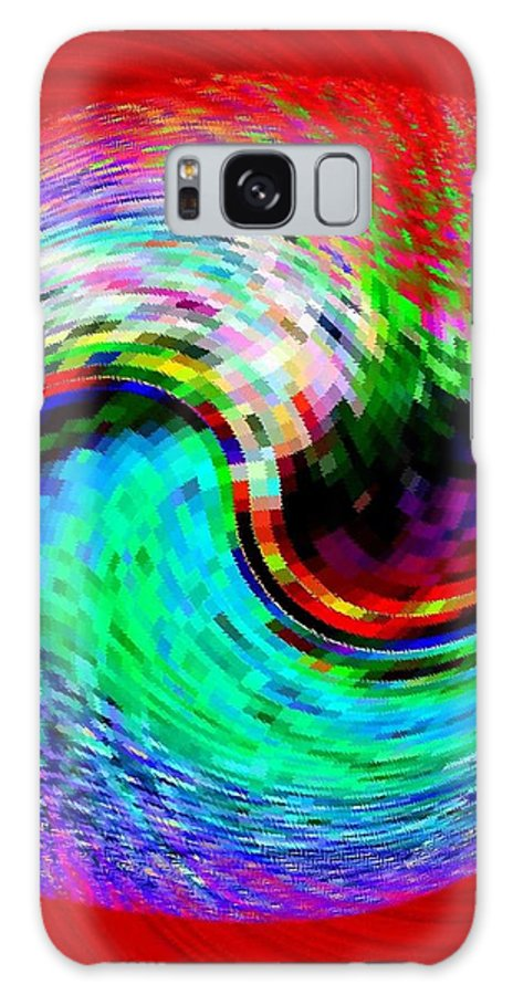Abstract Galaxy S8 Case featuring the digital art Pizzazz 32 by Will Borden