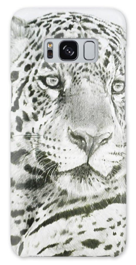Jaguar Galaxy Case featuring the drawing Placate by Barbara Keith
