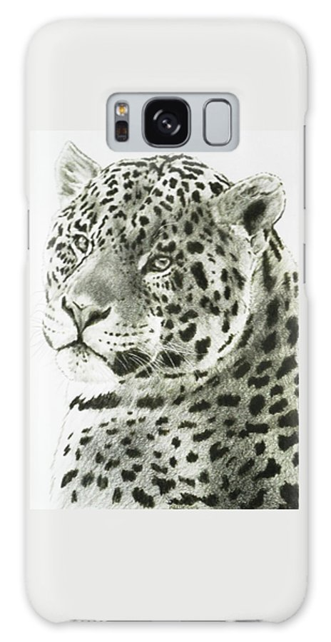 Jaguar Galaxy Case featuring the drawing Placid by Barbara Keith