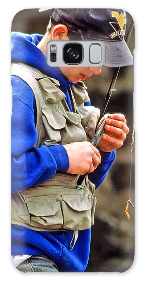Boy Fishing Galaxy S8 Case featuring the photograph Plan To Succeed by Laurie Paci