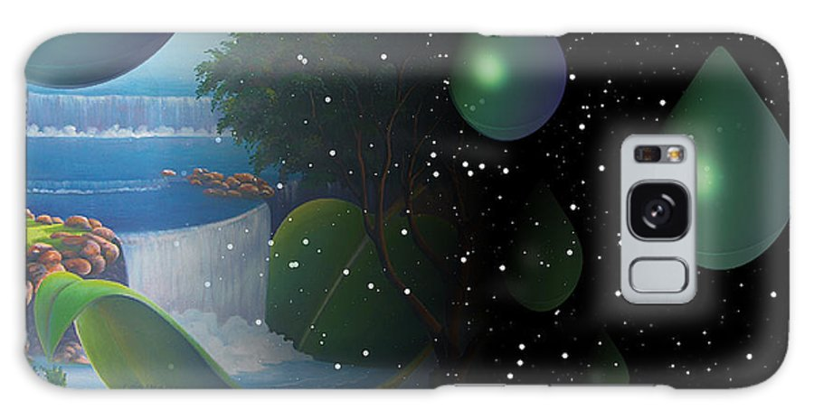 Suarrealism Galaxy S8 Case featuring the painting Planet Water by Leomariano artist BRASIL