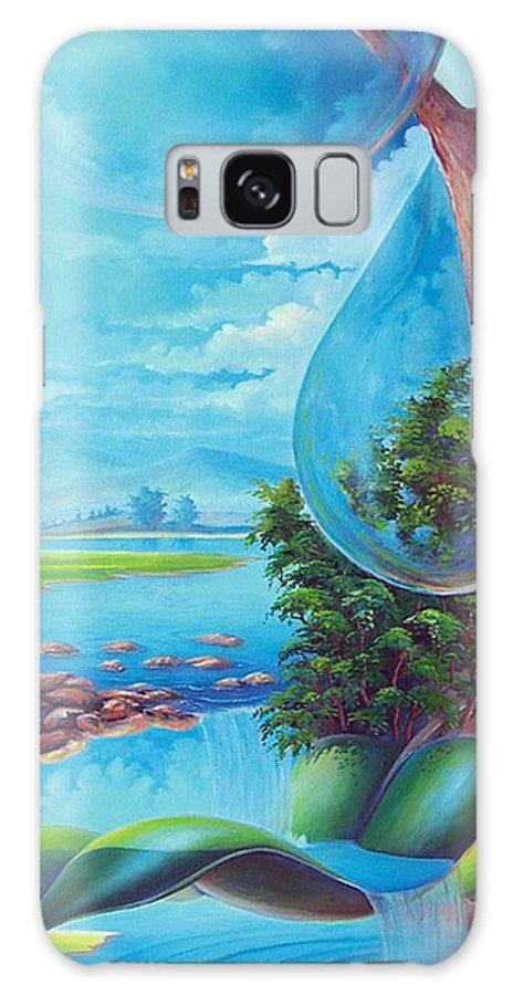 Galaxy S8 Case featuring the painting Planeta Agua by Leomariano artist BRASIL