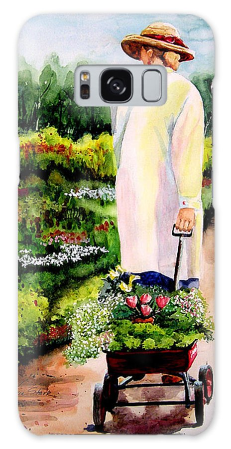 Garden Galaxy S8 Case featuring the painting Planting Plans by Karen Stark