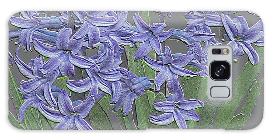 Plaster Hyacinth Galaxy S8 Case featuring the mixed media Plaster Hyacinth by Debra   Vatalaro