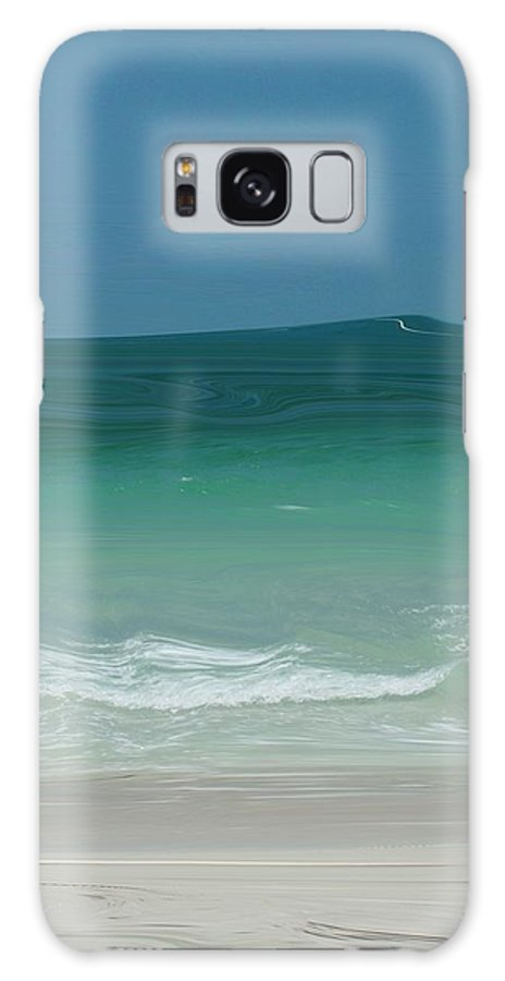 Abstract Galaxy S8 Case featuring the digital art Playful Waves by Florene Welebny