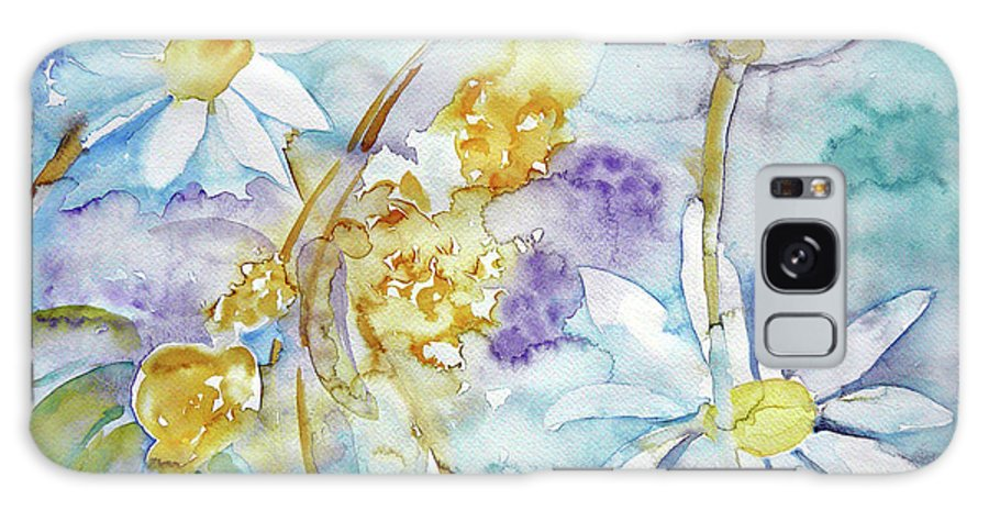 Flowers Galaxy S8 Case featuring the painting Playfulness by Jasna Dragun