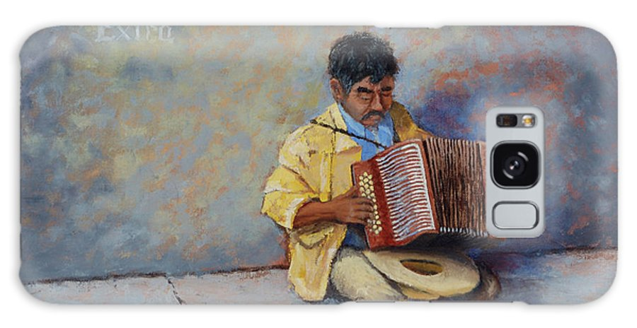 Mexico Galaxy Case featuring the painting Playing For Pesos by Jerry McElroy