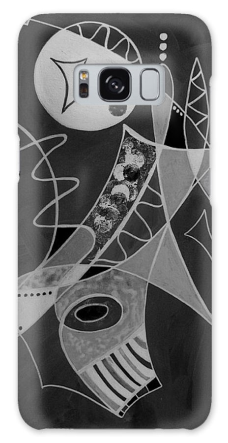 Abstract Galaxy Case featuring the painting Playing Go Fish by Ruth Palmer