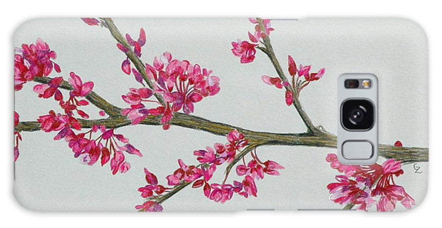Color Galaxy S8 Case featuring the drawing Plum Blossom by Glenda Zuckerman