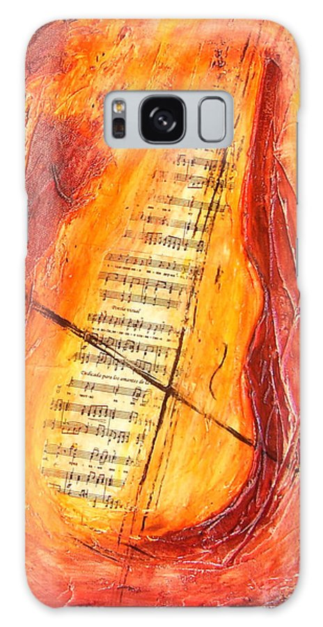 Music Galaxy S8 Case featuring the painting Poesial Visual by Ivan Guaderrama