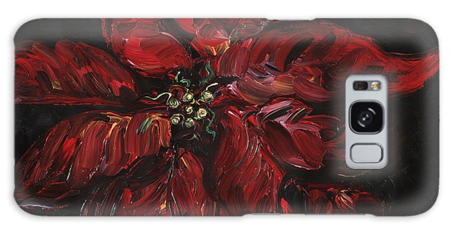 Abstract Galaxy S8 Case featuring the painting Poinsettia by Nadine Rippelmeyer