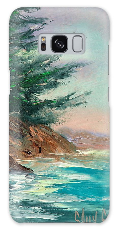 Surf Galaxy S8 Case featuring the painting Point Of View by Sally Seago