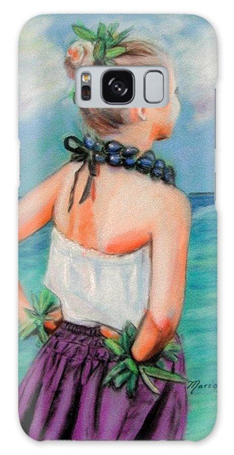 Hula Dance Galaxy S8 Case featuring the painting Poipu Hula by Marionette Taboniar
