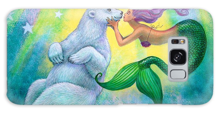 Mermaids Galaxy S8 Case featuring the painting Polar Bear Kiss by Sue Halstenberg