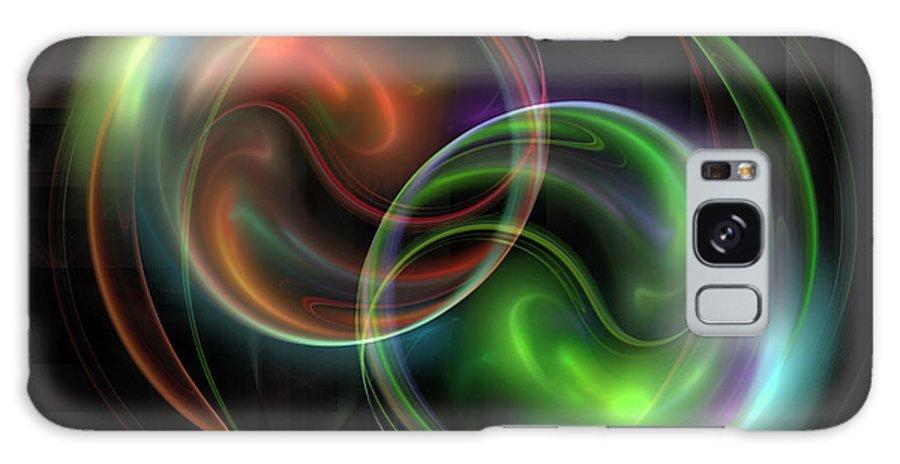 Fractal Galaxy S8 Case featuring the digital art Polarity by Jutta Maria Pusl