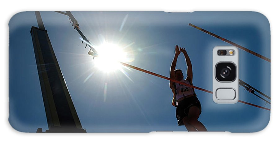 Pole Vault Galaxy Case featuring the photograph Pole Vault Success by Steve Somerville