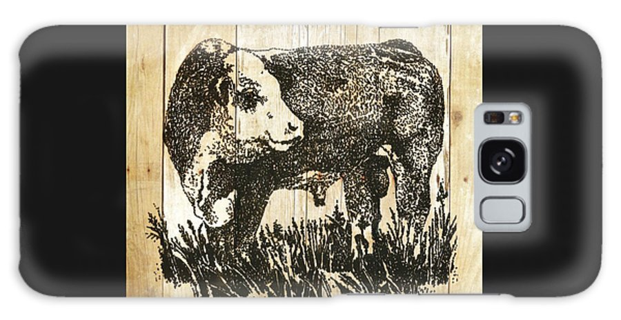Polled Hereford Bull Galaxy S8 Case featuring the photograph Polled Hereford Bull 11 by Larry Campbell