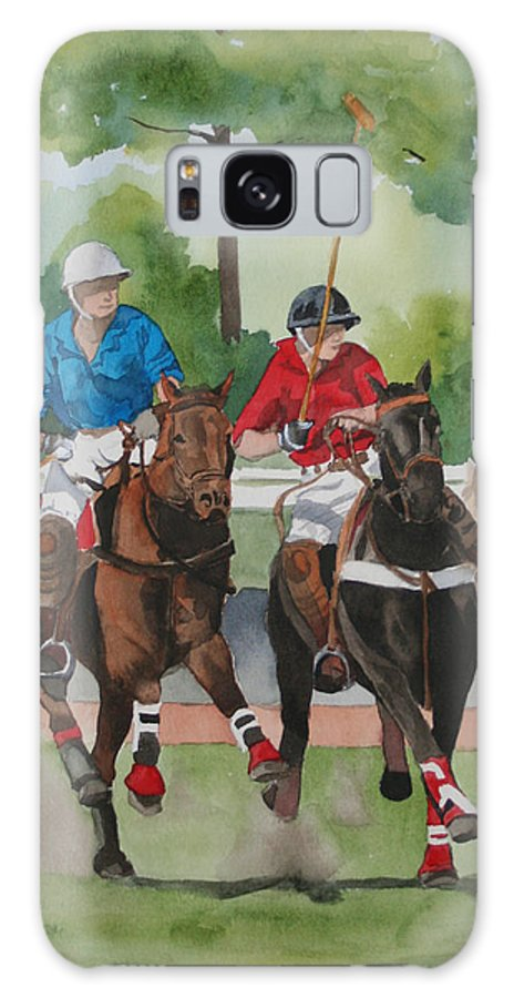 Polo Galaxy S8 Case featuring the painting Polo In The Afternoon 2 by Jean Blackmer