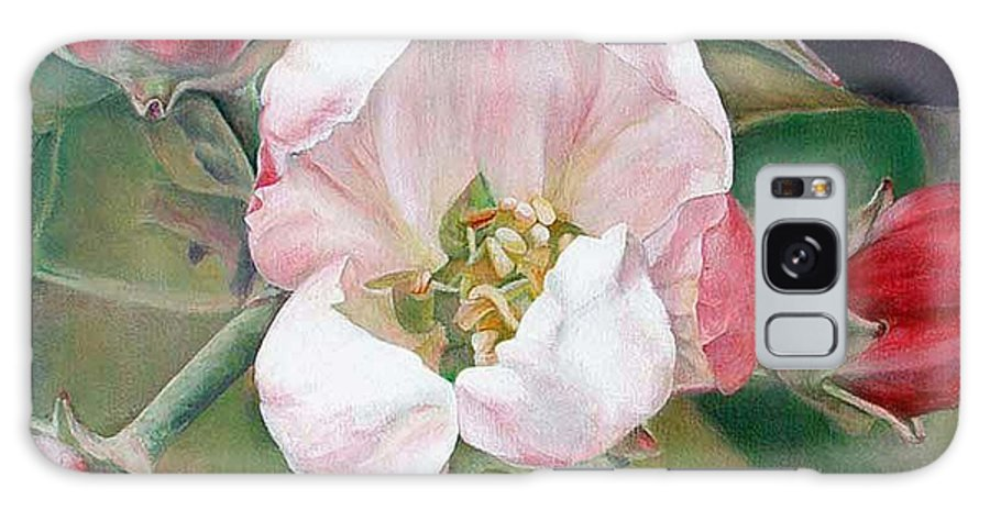 Floral Painting Galaxy Case featuring the painting Pommier by Muriel Dolemieux