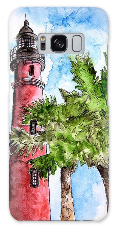 Ponce De Leon Galaxy S8 Case featuring the painting Ponce De Leon Inlet Florida Lighthouse Art by Derek Mccrea