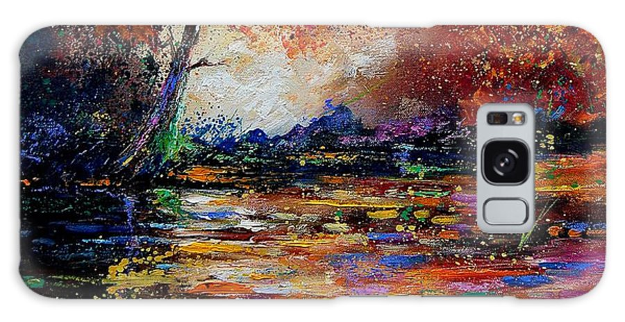 River Galaxy S8 Case featuring the painting Pond 671254 by Pol Ledent