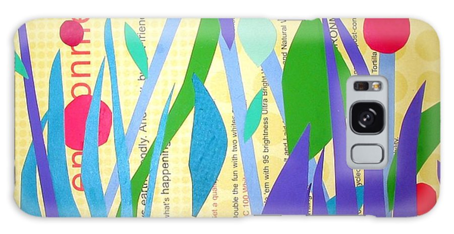 Landscape Galaxy Case featuring the mixed media Pond Life by Debra Bretton Robinson