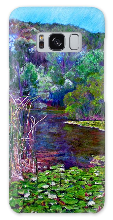 Pond Galaxy S8 Case featuring the painting Pond Of Tranquility by Michael Durst