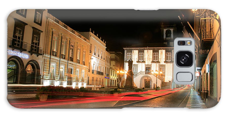 Azores Galaxy S8 Case featuring the photograph Ponta Delgada At Night by Gaspar Avila