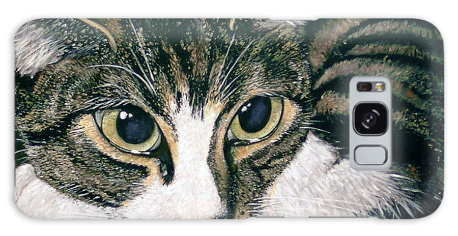 Cat Galaxy S8 Case featuring the painting Pooky by Arie Van der Wijst