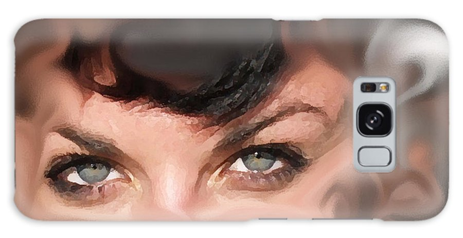 Eyes Galaxy Case featuring the photograph Pop Art Eyes by Heather Coen