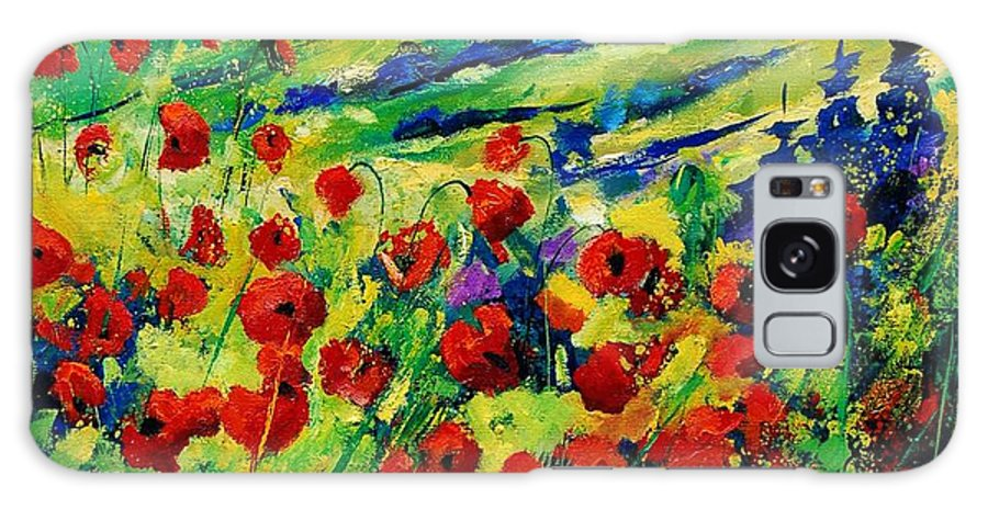 Flowers Galaxy Case featuring the painting Poppies 78 by Pol Ledent