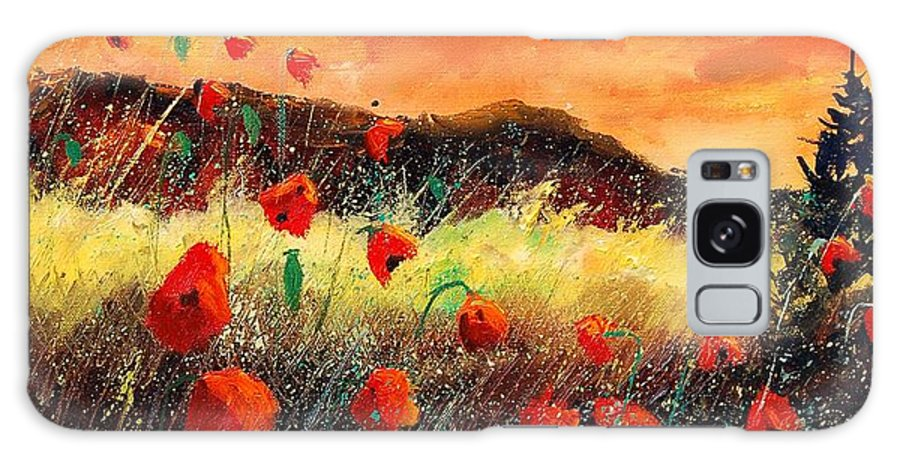 Poppies Galaxy S8 Case featuring the painting Poppies At Sunset 67 by Pol Ledent
