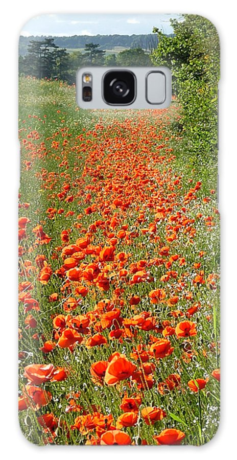 Poppies Galaxy S8 Case featuring the photograph Poppies Awash by Bob Kemp