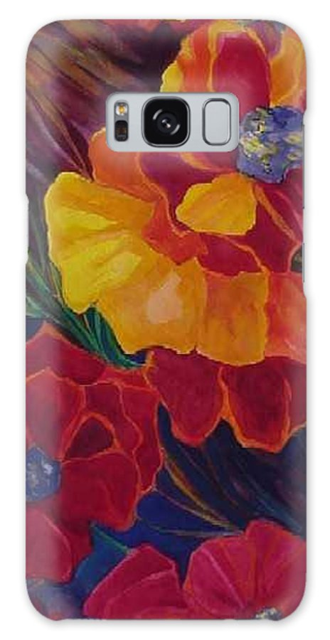 Flowers Galaxy S8 Case featuring the painting Poppies by Carolyn LeGrand