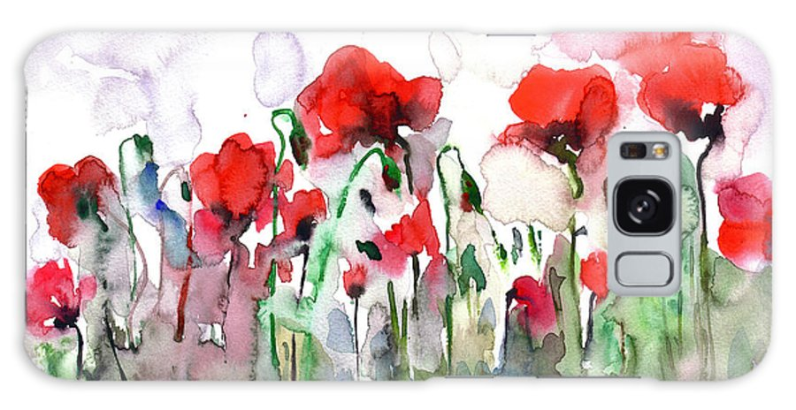 Poppies Galaxy S8 Case featuring the painting Poppies by Faruk Koksal