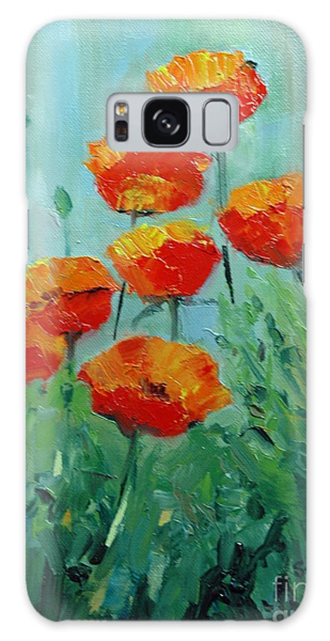 Floral Galaxy Case featuring the painting Poppies For Sally by Glenn Secrest