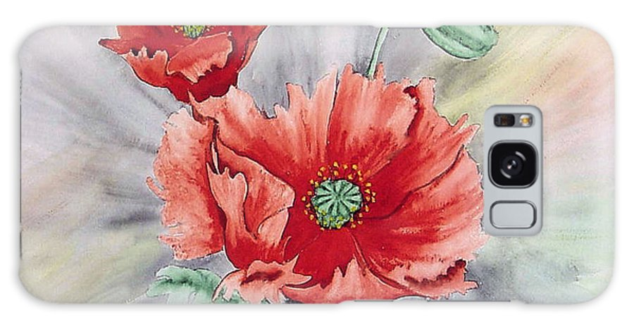 Poppies Galaxy S8 Case featuring the painting Poppies by Frank Hamilton