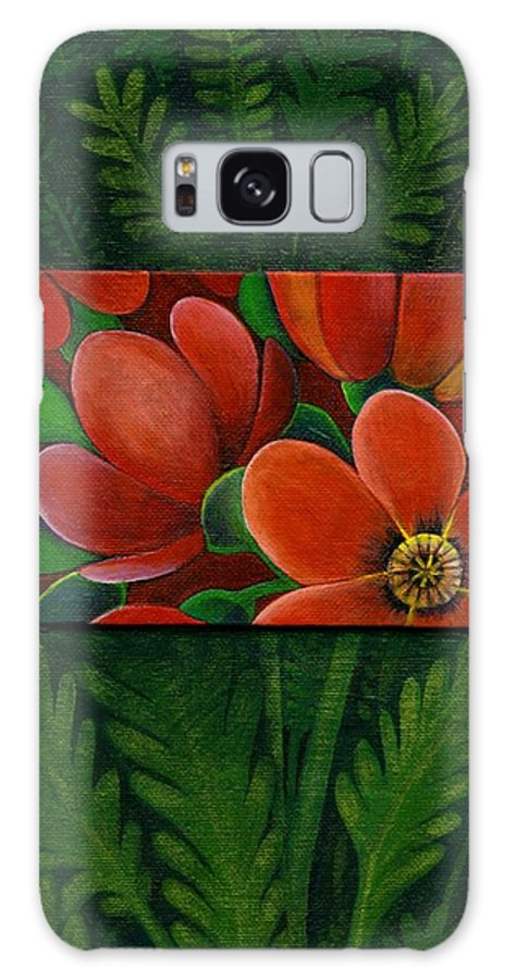Poppy Galaxy S8 Case featuring the painting Poppies by Helena Tiainen