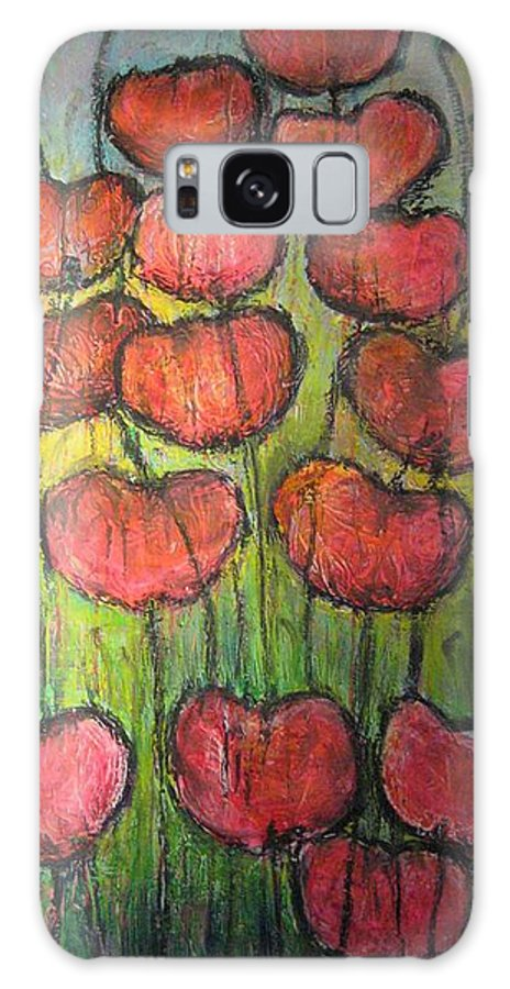 Poppies Galaxy Case featuring the painting Poppies In Oil by Laurie Maves ART