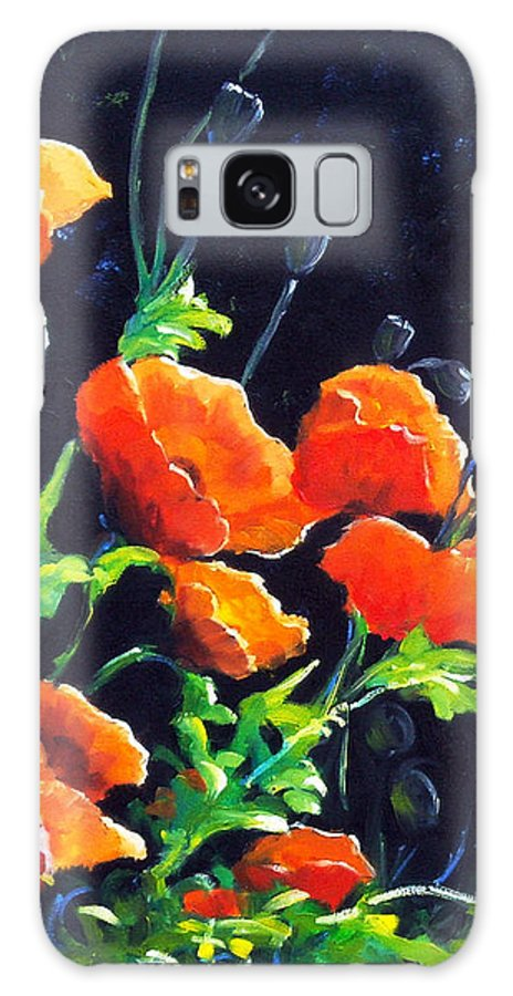 Pavot Galaxy Case featuring the painting Poppies In The Light by Richard T Pranke