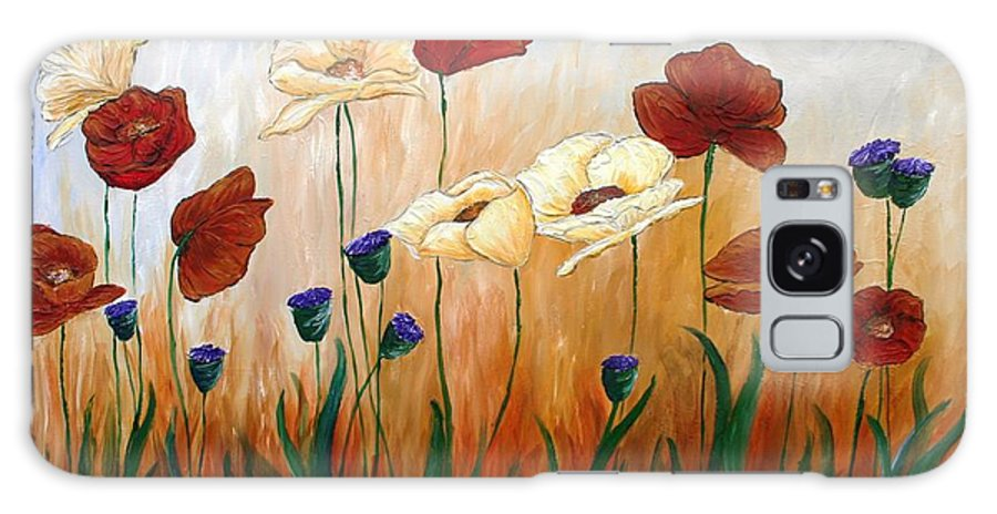 Poppies Galaxy S8 Case featuring the painting Poppies by Melissa Wiater Chaney