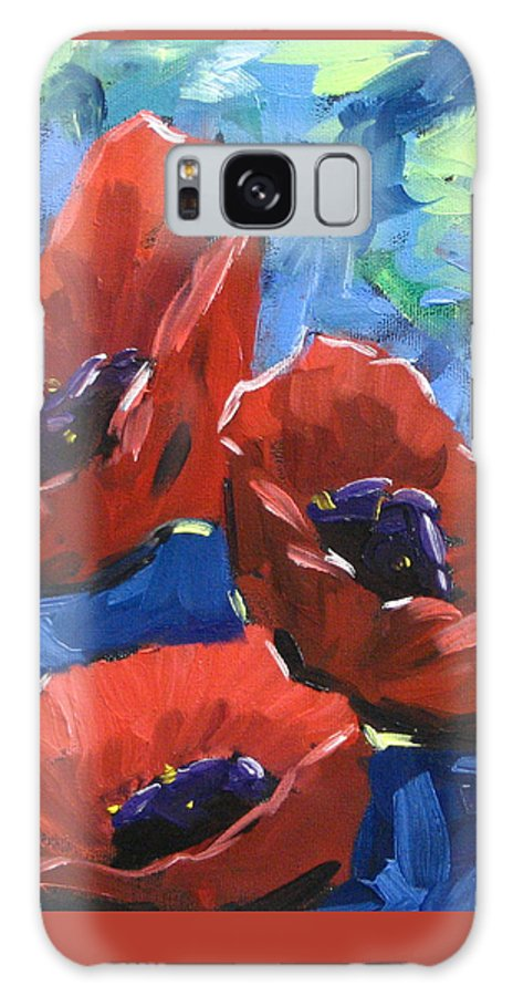 Art Galaxy S8 Case featuring the painting Poppies Splender by Richard T Pranke