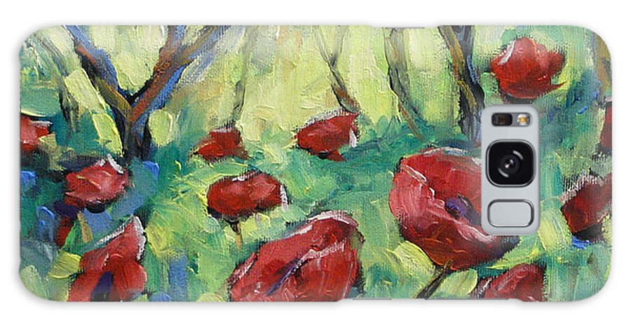 Art Galaxy S8 Case featuring the painting Poppies Through The Forest by Richard T Pranke