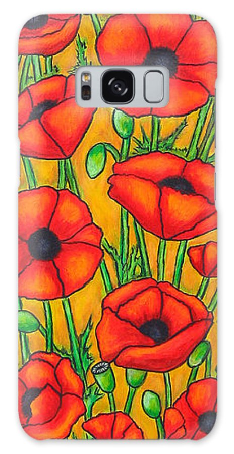 Poppies Galaxy S8 Case featuring the painting Poppies Under The Tuscan Sun by Lisa Lorenz