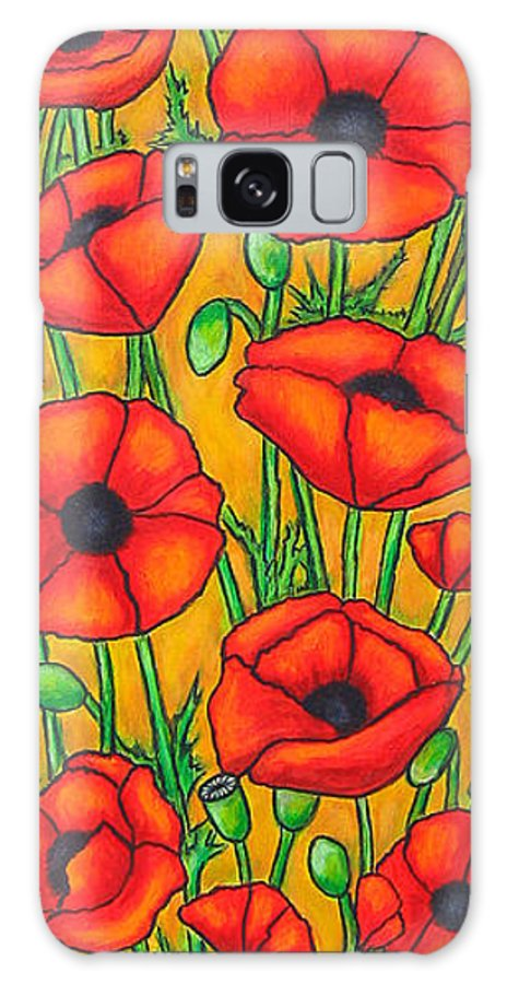 Poppies Galaxy Case featuring the painting Poppies Under the Tuscan Sun by Lisa Lorenz
