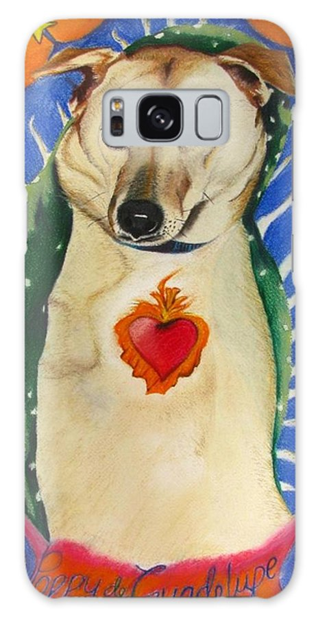 Dog Painting Galaxy S8 Case featuring the painting Poppy De Guadelupe by Michelle Hayden-Marsan