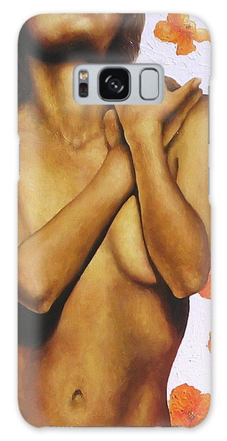 Nude Galaxy S8 Case featuring the painting Poppy Love 2 by Trisha Lambi