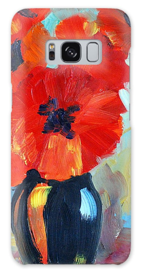 Poppy Galaxy S8 Case featuring the painting Poppy by Phil Burton