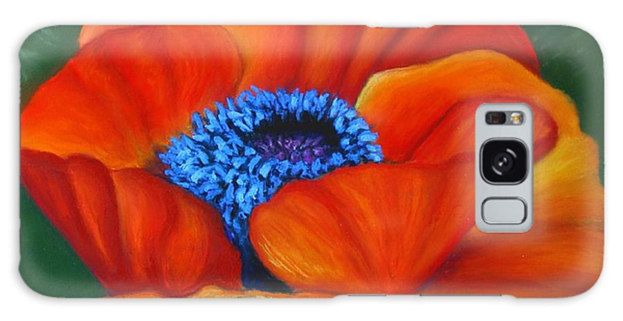 Red Flower Galaxy S8 Case featuring the painting Poppy Pleasure by Minaz Jantz